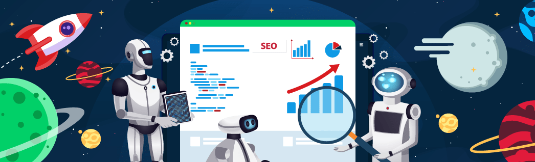 Graphic for the AI SEO post